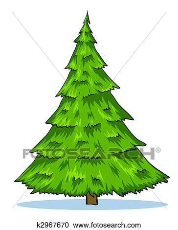 Christmas Tree Illustration.Green Natural Christmas Tree Illustration Iskarpa