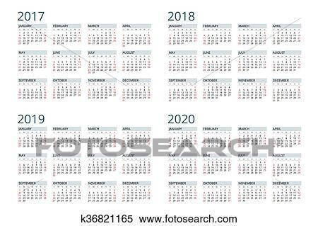 utklipp kalender for 2017 2018 2019 2020 uke. Black Bedroom Furniture Sets. Home Design Ideas