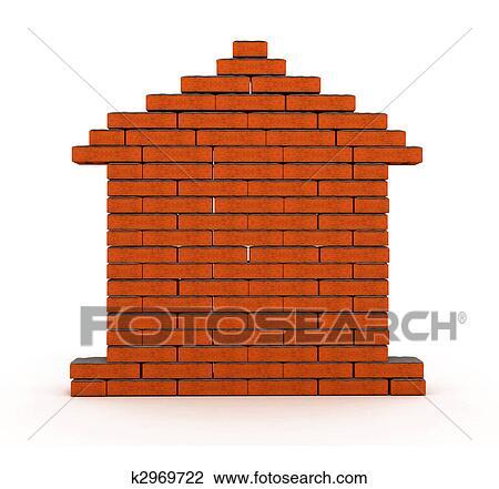 Maison Brique Dessin K2969722 Fotosearch