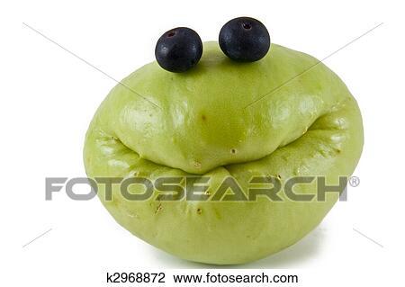 Smiley Frutta Con Mirtillo Occhi Archivio Immagini