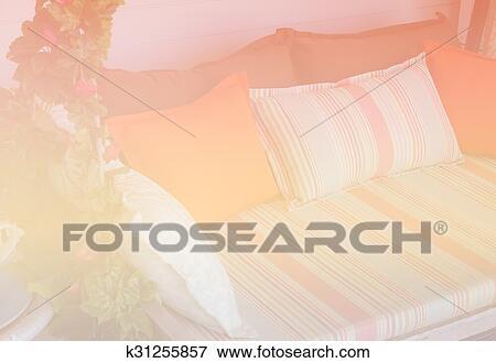 Tela Sofá En Terraza Con Color Filtro Y Foco Suave