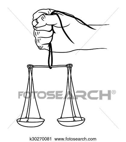 Balance justice clipart k30270081 - Dessin de balance ...