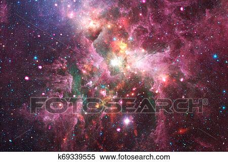 incredibly beautiful galaxy somewhere stock photography  k69339555