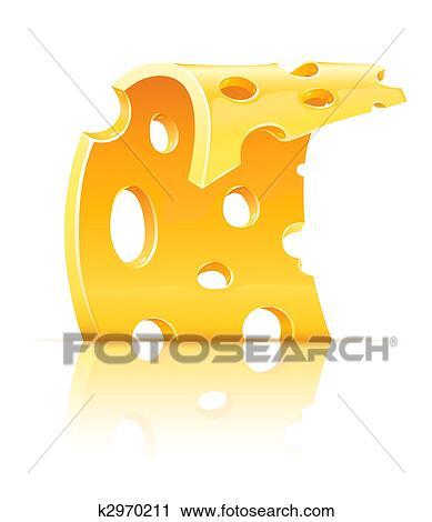 clipart scheibe von gelb por s k se essen mit l cher k2970211 suche clip art. Black Bedroom Furniture Sets. Home Design Ideas