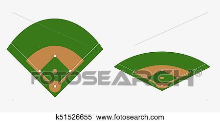 clipart of baseball field vector plan k51526655 search clip art
