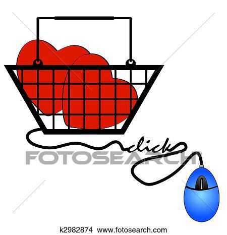 Dessins concept de faire courses ligne pour internet - Dessin de faire l amour ...