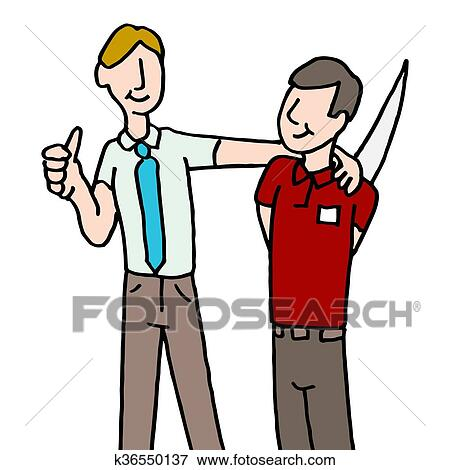 clip art of employee backstabbing manager k36550137 search clipart rh fotosearch com fotosearch clipart free fotosearch clipart