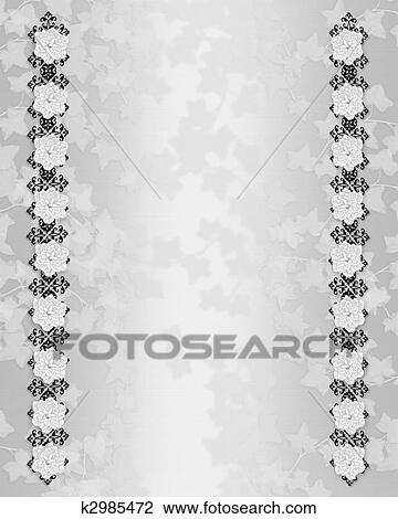 Clip Art Hochzeitskarten Hintergrund Elegante K2985472 Suche