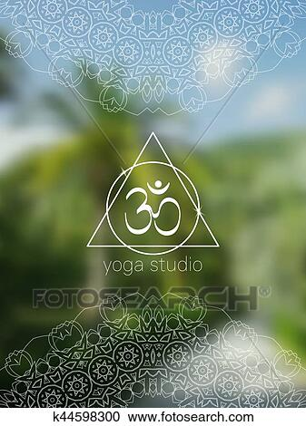 Tropical Yoga Realistic Banner With Mandala And Aum Clipart K44598300 Fotosearch