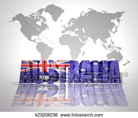 Australia Word Map.Word Australia Stock Illustration
