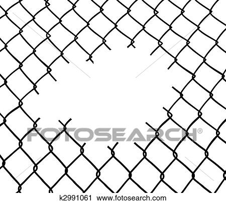 Clipart of Cut wire fence k2991061 - Search Clip Art, Illustration ...