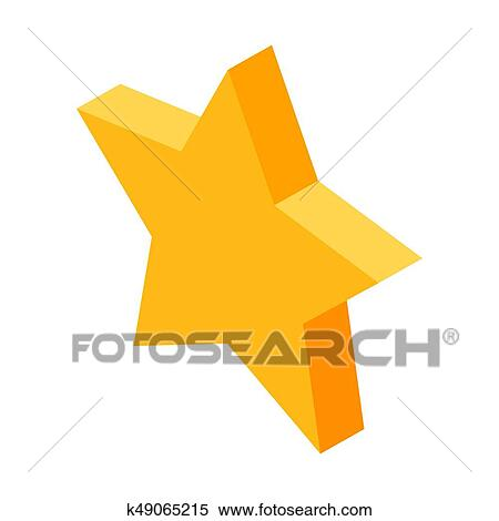 Clipart Of Gold Five Pointed Star Icon For Favorite Things In Social
