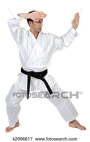 Martial Arts Stance Stock Photo K2996817 Fotosearch