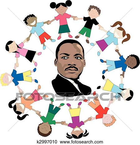 clipart of martin luther king with kids k2997010 search clip art rh fotosearch com milk clip art free mlk clip art free