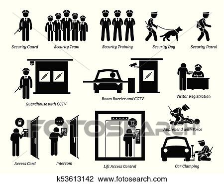 Clipart Of Security Guards Icons K53613142 Search Clip