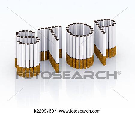 Written Stop With Cigarettes Stock Illustration K22097607 Fotosearch