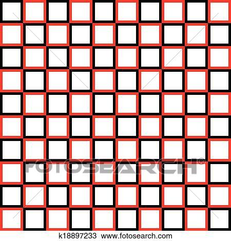 Clipart Abwechseln Schwarz Rot Vierecke Auf Transparent