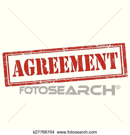 Clipart Of Agreement Stamp K27766704 Search Clip Art Illustration