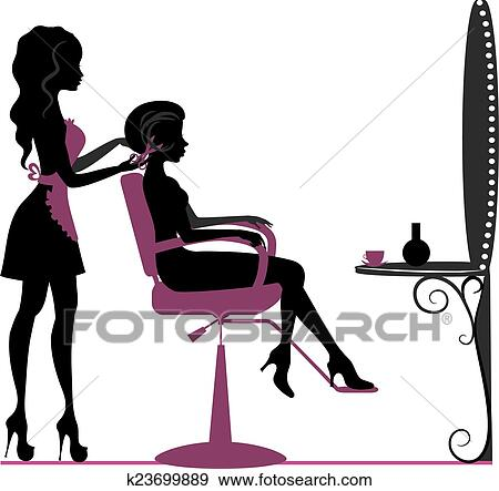 clip art of beauty salon k23699889 search clipart illustration rh fotosearch com beauty salon tools clipart beauty salon cartoon clipart