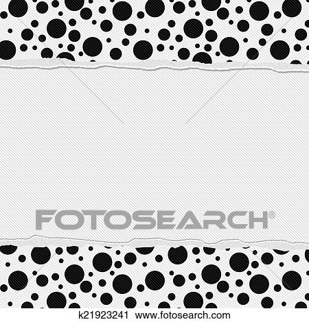 Stock Photography of Black and White Polka Dot Frame with Torn ...