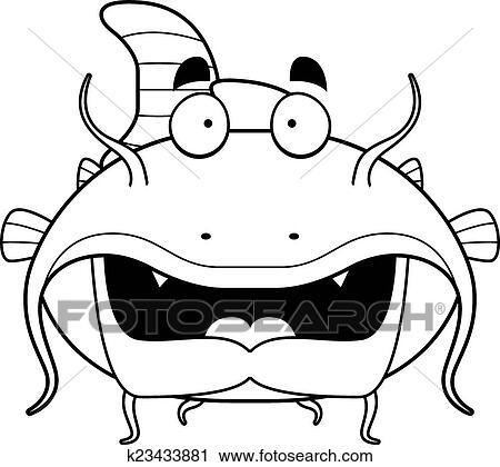 clipart of cartoon catfish k23433881 search clip art illustration Jeremy Wade Wels Catfish a green cartoon catfish swimming