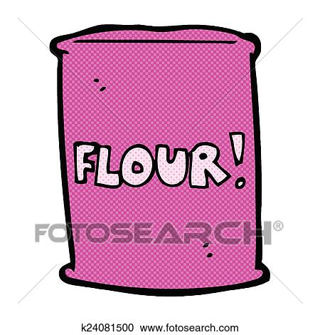 comic cartoon bag of flour clipart k24081500 fotosearch fotosearch