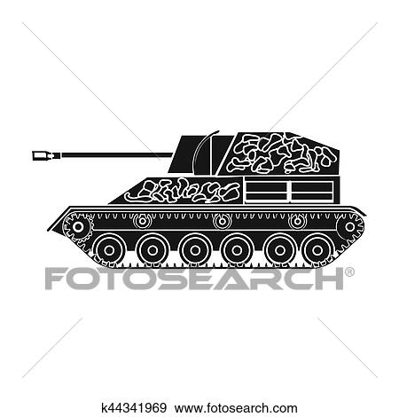 military tank icon in black style isolated on white background military and army symbol stock bitmap rastr illustration stock illustration k44341969 fotosearch fotosearch