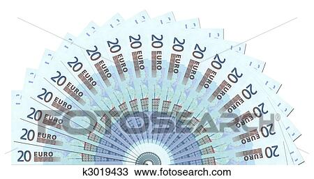 drawing of 20 euro notes half circle template k3019433 search