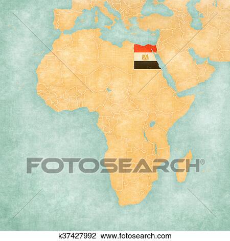 Carte Afrique Egypte.Carte De Afrique Egypte Clipart