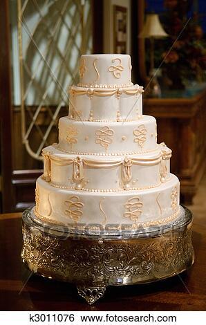 Klassische Hochzeit Kuchen Stock Fotograf K3011076 Fotosearch