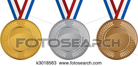 clipart of olympic medals k3018563 search clip art illustration rh fotosearch com olympic bronze medal clipart olympic medals clip art black and white