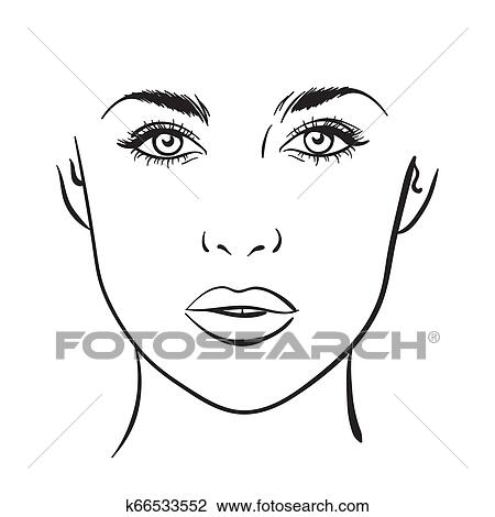 Alfa img - Showing > Female Blank Head Outline | Face template, Face  outline, Free clip art