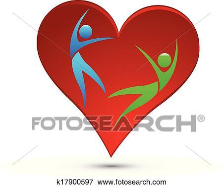clip art of healthy heart logo k17900597 search clipart rh fotosearch com  healthy heart clipart free