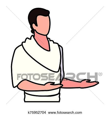 Cartoon Pilgrim Man Whistling While Walking Stock-Vektorgrafik (Lizenzfrei)  155470340
