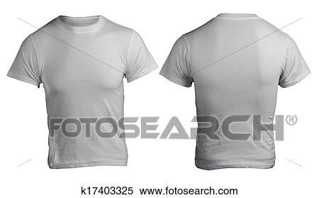 Stock Image Of Mens Blank Grey Shirt Template K17403325