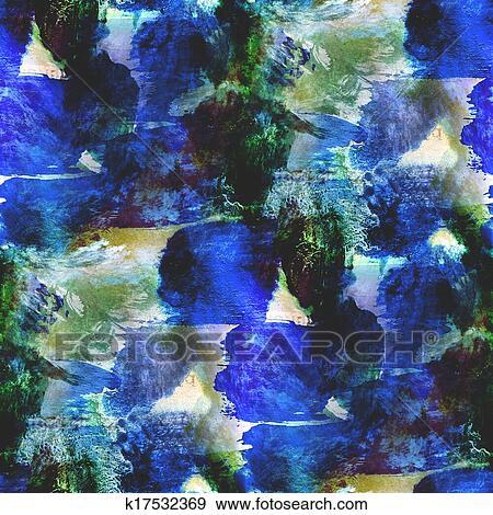 Banque D Illustrations Resume Avant Garde Seamless Bleu Vert
