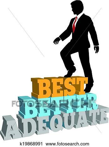 clipart of better business man best self improvement k19868991 rh fotosearch com best clip art subscription