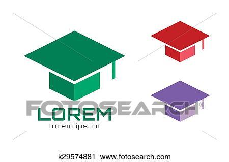 3ce0948c8f4b08 Clipart - Graduation cap hat logo icon template. College, university,  school icons.