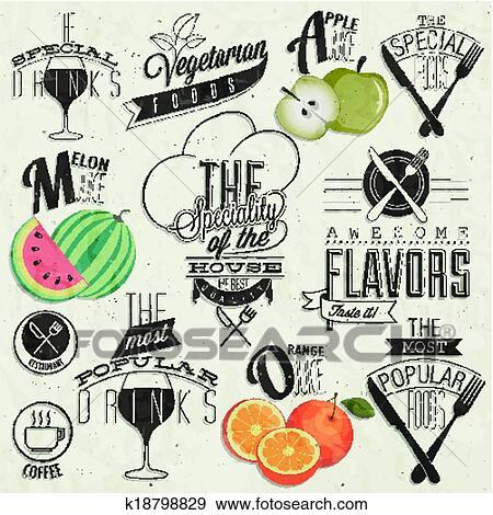 Clip Art Of Vintage Style Restaurant Menu K18798829 Search Clipart