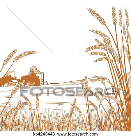 Wheat Field Clipart Free | Free Images at Clker.com - vector clip art  online, royalty free & public domain