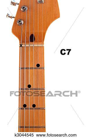 Stock Illustration of C7 Guitar Chord Diagram k3044545 - Search ...