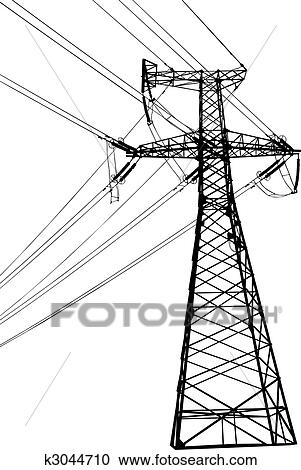 High Voltage Electric Line Clipart