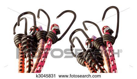 Stock Fotografie Kleurrijke Bungee Koord Haken K3045831 Zoek