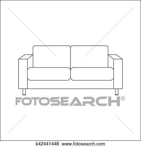 Sofa Icon Vector Clip Art K42441448 Fotosearch