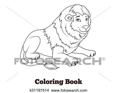 Clipart Ausmalbilder Löwe Afrikanisches Tier Karikatur