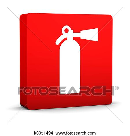Drawings Of Fire Extinguisher Sign K3051494 Search Clip Art