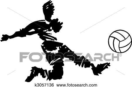 Fussballspieler Schiessen In Schwarz Weiss Clip Art