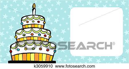 Alles Gute Geburtstag Kuchen Karte Fur 3 Drei Jahr Party