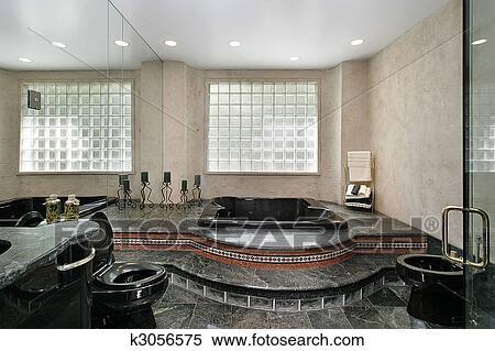 Maestro bagno con marmo nero archivio immagini k