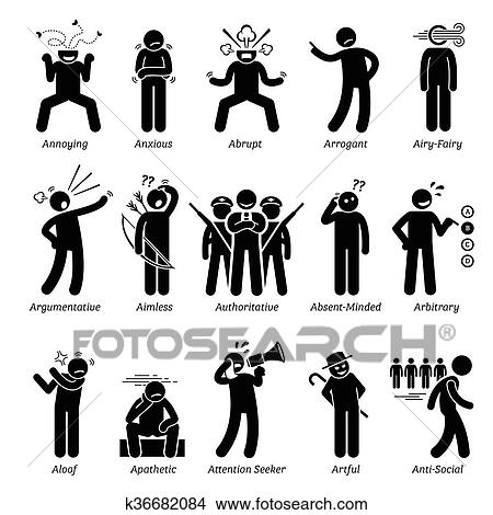 clipart of negative character traits with a k36682084 search clip